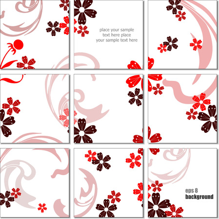 Ceramic  tiles background. Colored vector illustration for designers Vector