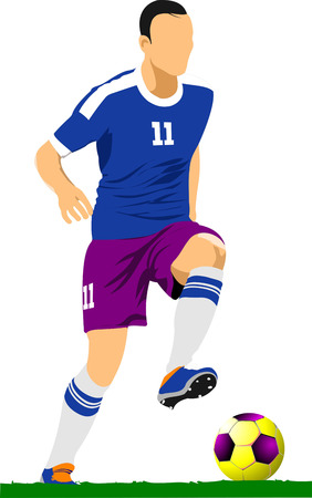 Soccer player. Football.vVector illustration Vector