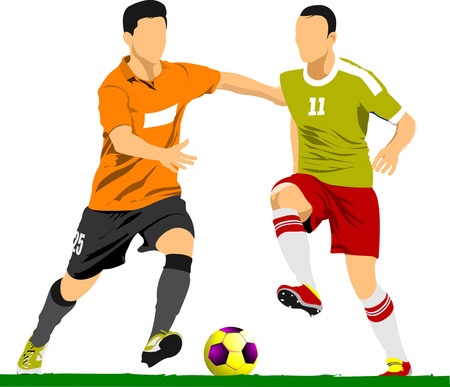 Soccer player poster. Vector illustration Vector