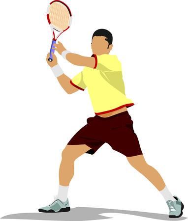 Tennisser. Gekleurde Vector illustratie Vector Illustratie
