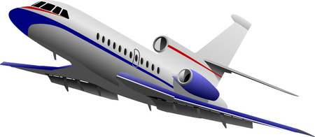 taking off: Avi?n que despegaba. Ilustraci?n vectorial para dise?adores