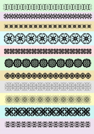 Collection of Ornamental Rule Lines in Different Design styles. Vector illustration