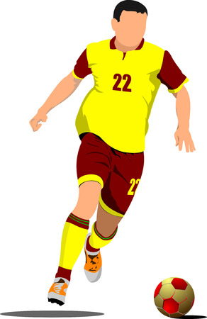 Soccer player. Football player. Vector illustration Stock Vector - 23126692
