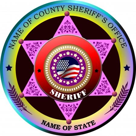 sheriffs: Sheriffs badge on a white background. Vector illustration