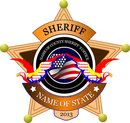 sheriffs: Sheriffs badge on a white background. Vector illustration