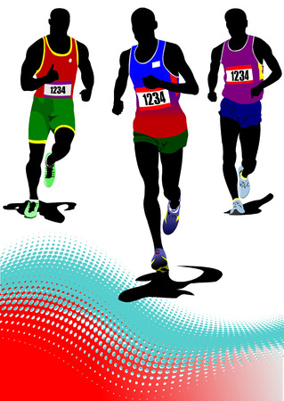 The running man. Track and field. Vector illustration Vector