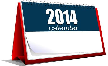 calendario da tavolo: Illustrazione vettoriale di calendario da tavolo. 2014 anni