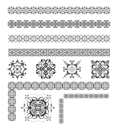 accent abstract: Collection of Ornamental Rule Lines in Different Design styles