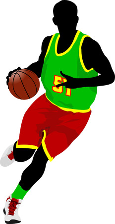slam dunk: Basketball player. Vector illustration