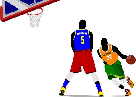 Basketball players. Vector