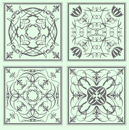 kitchen tile: Decorative finishing ceramic tiles.  Illustration