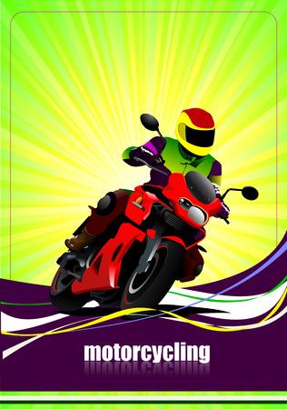 iron horse: Motorcycling  background with motorcycle image. Iron horse.