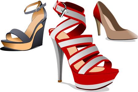 high detail: Fashion woman shoes.