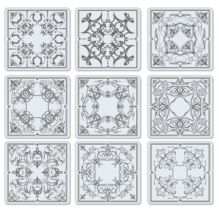 bath room: Decorative finishing ceramic tiles.  Illustration