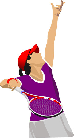 Woman Tennis player poster.
