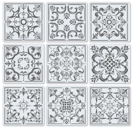 Decorative finishing ceramic tiles.