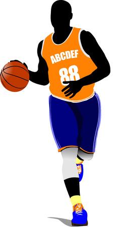 basket ball: Basketball players.