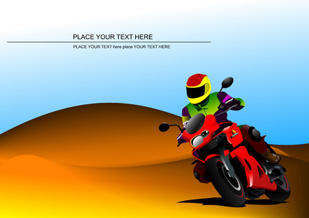motorcycle helmet: Abstract  background with motorcycle image.