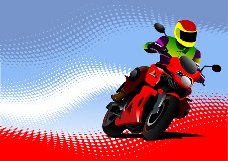 Motorcycling  background with motorcycle image. Iron horse.  Vector