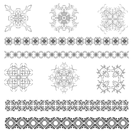 Collection of Ornamental Rule Lines in Different Design styles.  Vector