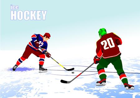 Hockey sur glace joueurs affiche. Banque d'images - 29234083