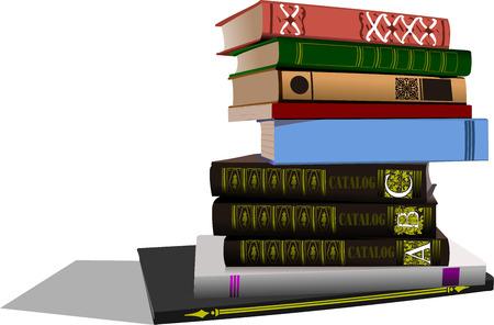 bookshop: Vector illustration of column books
