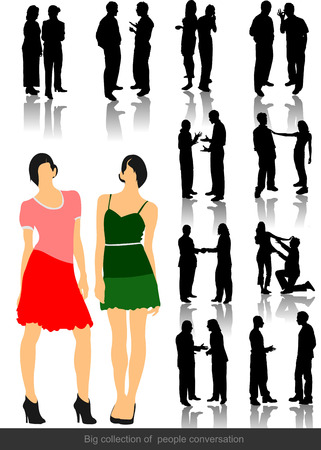 office people: Office people silhouettes. Vector illustration Illustration
