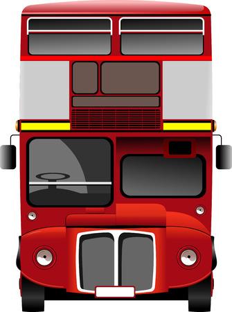 decker: double Decker bus images. Vector illustration Illustration