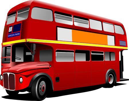 double decker: double Decker bus images. Vector illustration Illustration