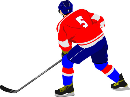 ice rink: Ice hockey players.  Vector illustration for designers