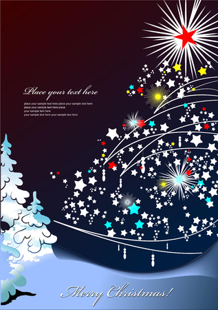 christmas star background: Abstract Christmas background with star snowflakes. Vector illustration
