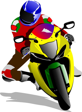 Motorcycle image. Biker. Vector illustration