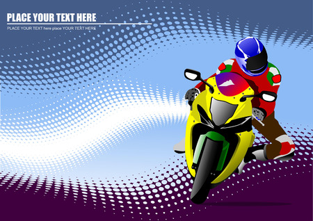 motorbike jumping: Abstract  background with motorcycle image. Vector illustration