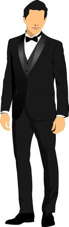 hombre guapo: Hombre hermoso joven. Ilustraci�n vectorial