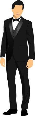 fullbody: Young handsome man. Vector illustration