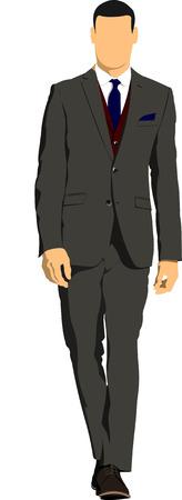Jonge knappe man. Businessman.Vector illustratie