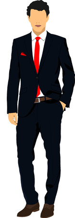 good looking man: Handsome young man. Businessman. Vector illustration Illustration