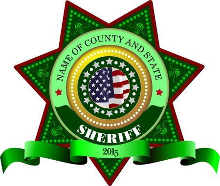 sheriffs: Sheriffs badge on a white background
