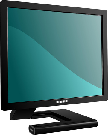 Flat computer monitor. Display. Vector illustration Vector