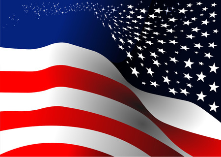 4th July – Independence day of United States of America. Vector illustration Illustration