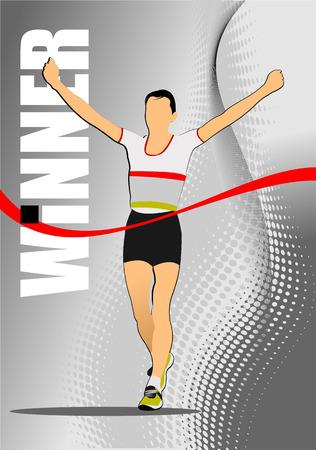 jogging in nature: The running sport. Vector illustration