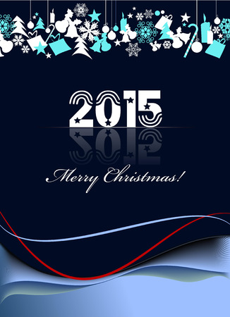 new yea: Greeting card for Merry Christmas or Happy New Yea Illustration