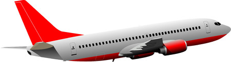 Airplane on the air. Vector illustration Vector