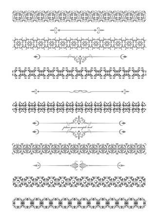 accent: Collection of Ornamental Rule Lines in Different Design styles