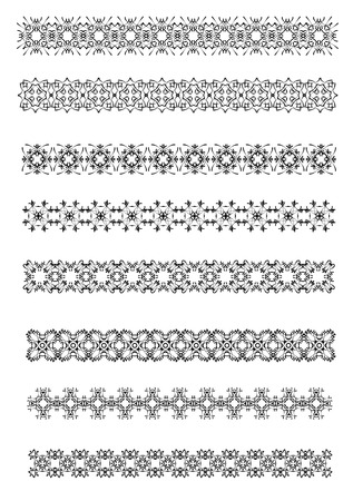 rule: Collection of Ornamental Rule Lines in Different Design styles