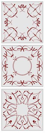 ceramic tiles: Decorative finishing ceramic tiles. Vector illustration Illustration