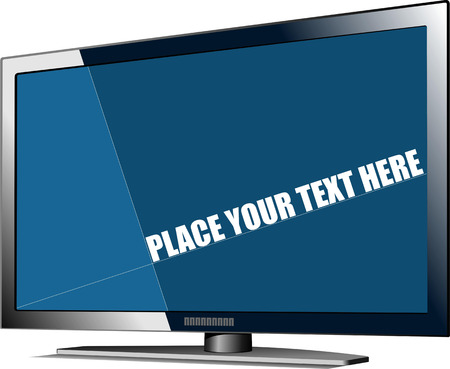 tv screen: Flat tv screen. Display. Vector illustration
