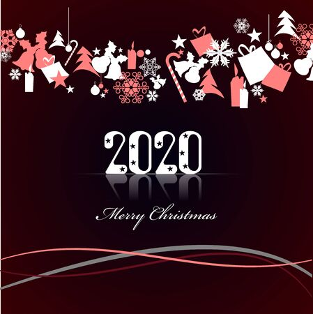 Abstract Christmas background. Colored Vector illustration for designers