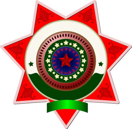 Sheriff's badge on a white background