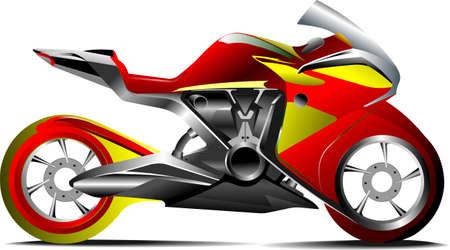 Sketch of modern motorcycle. Vector illustration